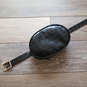 New black moc croc waist bum bag